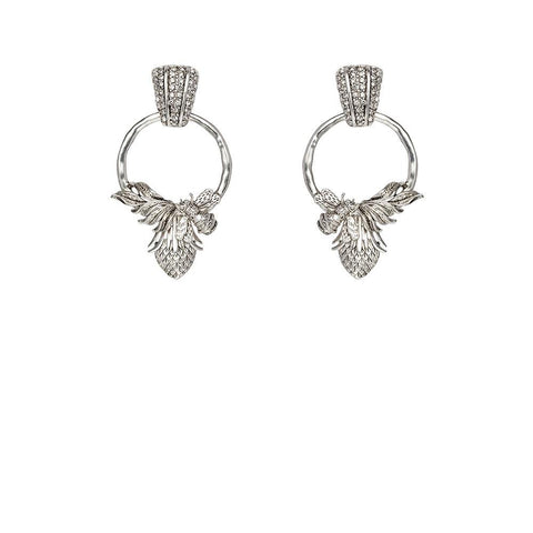 Kitte Abeja Earrings - Silver