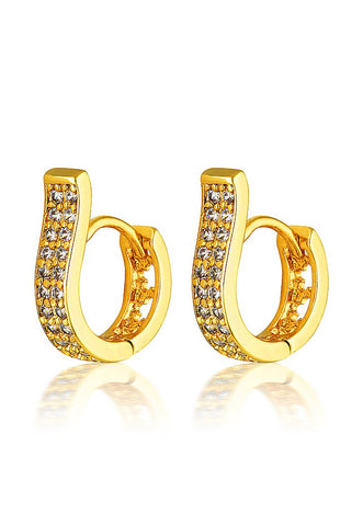 Cendre Amber Pave Huggie Hoops