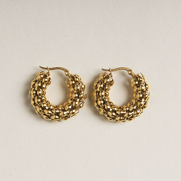 Brie Leon Pebble Hoops