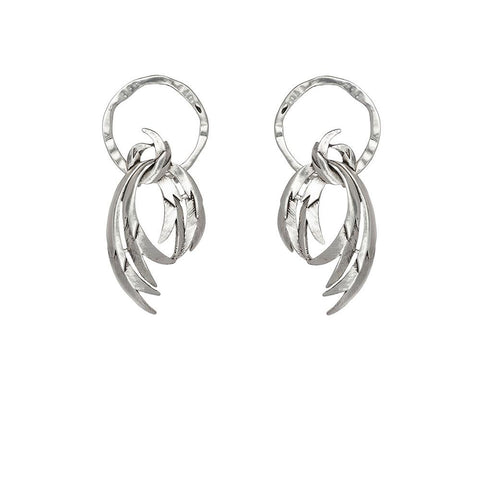 Kitte Cigario Earrings - Silver