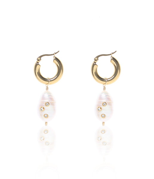 Carly Paiker Cora Studded Hoop Earrings