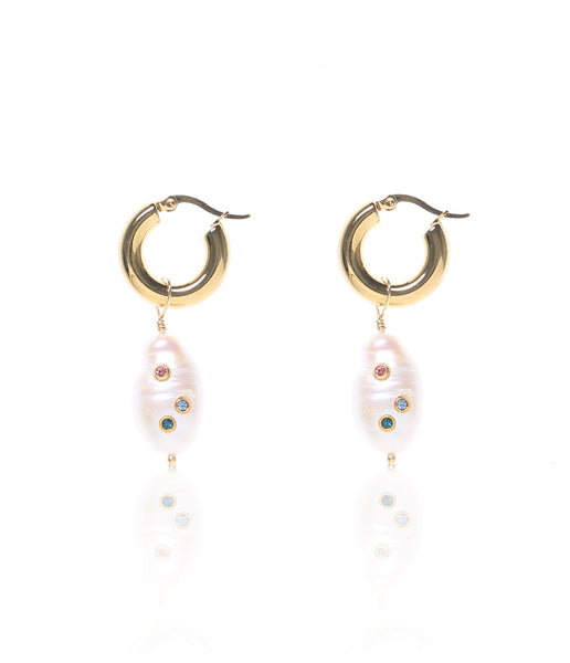 Carly Paiker Cora Studded Hoop Earrings - Multi