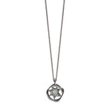 Aletheia & Phos Cosmos Solstice Shield Necklace - Silver & Rainbow Moonstone