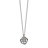 Aletheia & Phos Cosmos Solstice Shield Necklace - Silver & Opal