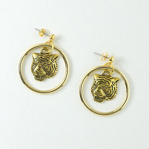 Vanessa Mooney The Latifah Mini Tiger Earrings
