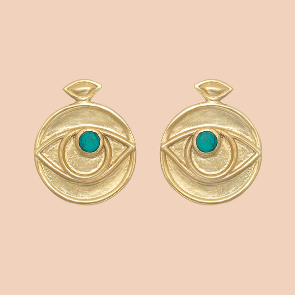 Gypseye Rosetta Earrings - Turquoise