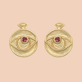 Gypseye Rosetta Earrings - Pink Tourmaline