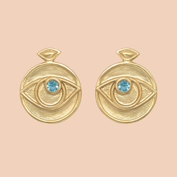 Gypseye Rosetta Earrings - Blue Topaz