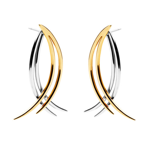 amber sceats 'leighton' earrings - gold/silver