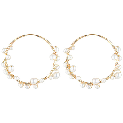 Elvis Et Moi Aiden Medium Hoop Earrings