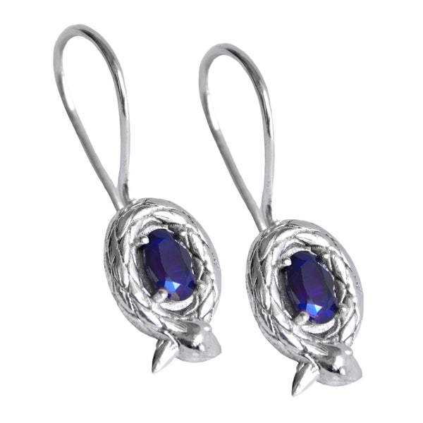 Mountain & Moon Eva Drop Earrings - Sapphire