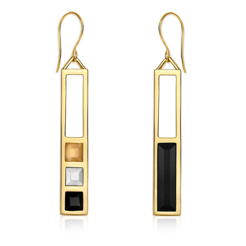 f+h jewellery 'the azuma' plank earring - 18k gold