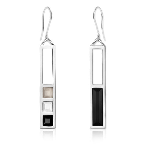 f+h jewellery 'the azuma' plank earring - sterling silver