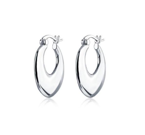 F+H Jewellery Curses Organic Hoops - Silver