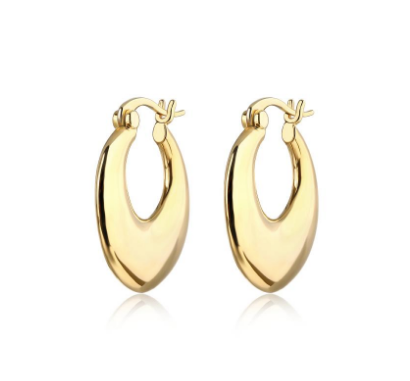 F+H Jewellery Curses Organic Hoops - Gold