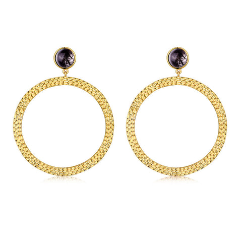 f+h jewellery 'the bianca' large hoop earrings - gold