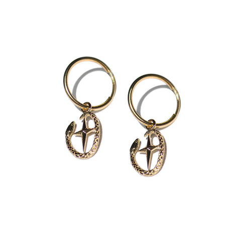 Aletheia & Phos Shield of Athena Earring - Gold