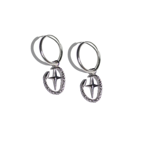 Aletheia & Phos Shield of Athena Earring - Silver