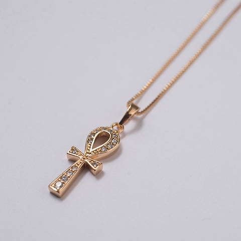 Brie Leon Gem Ankh Necklace