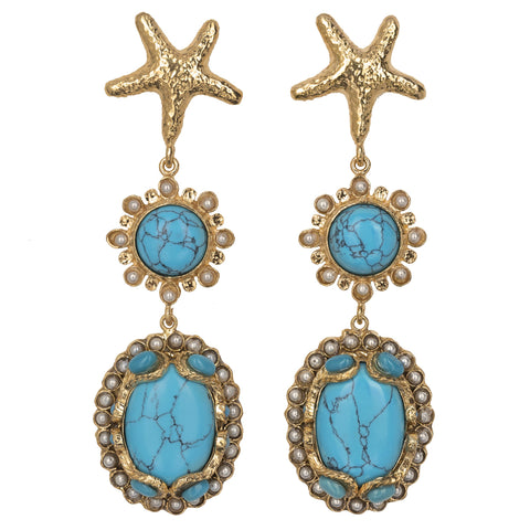 Christie Nicolaides Carmela Earrings - Turquoise