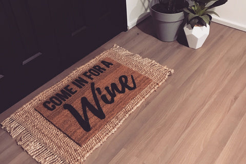 Walk All Over Me -  Come In For A Wine Doormat