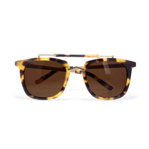 pared eyewear 'camels & caravans' sunglasses - dark tortoise/gold