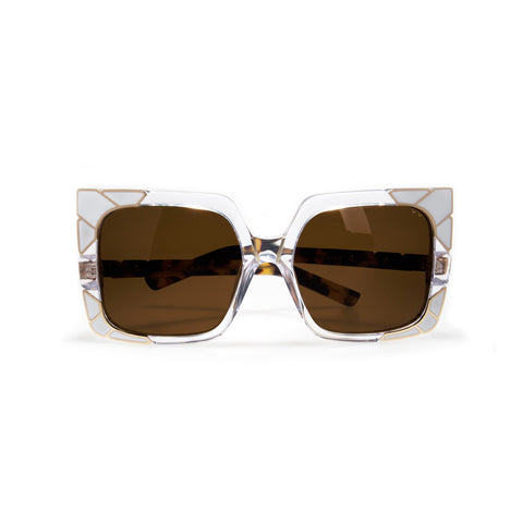 pared eyewear 'sun & shade' sunglasses - gold/white