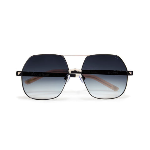 pared eyewear 'disco & fever' sunglasses - black/beige