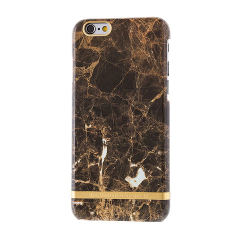 richmond & finch brown marble glossy phone case - iPhone 6/6S