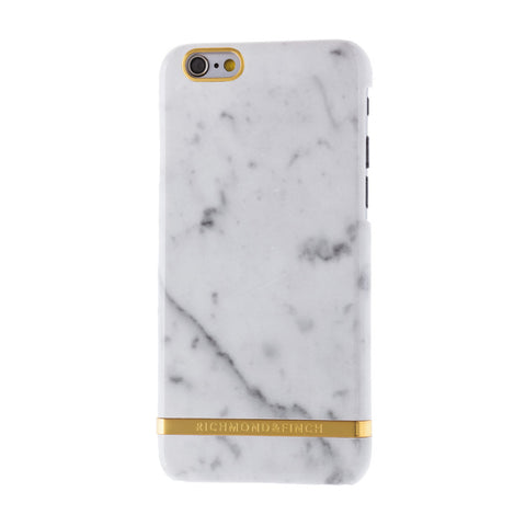 richmond & finch white marble glossy phone case - iPhone 6/6S Plus