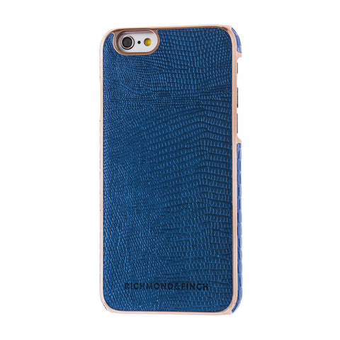 richmond & finch framed navy reptile phone case - iPhone 6/6S