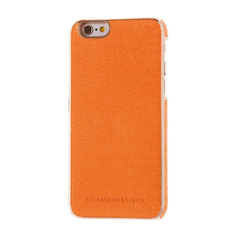 richmond & finch framed orange reptile phone case - iPhone 6/6S