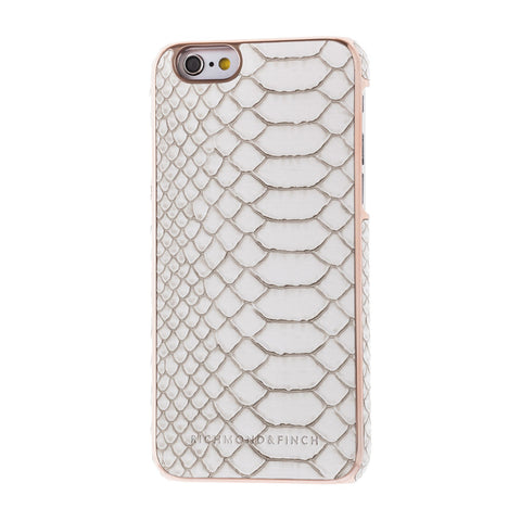 richmond & finch framed white reptile phone case - iPhone 6/6S
