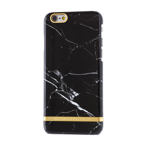 richmond & finch black marble glossy phone case - iPhone 6/6S