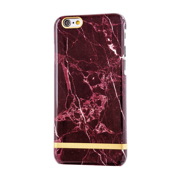 richmond & finch red marble glossy phone case - iPhone 6/6S