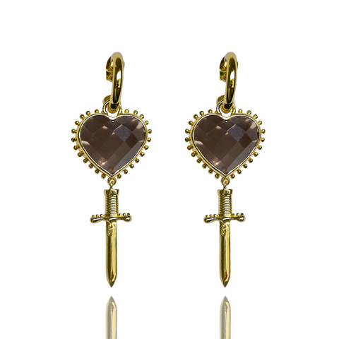 Mountain & Moon Juliet Earrings - Smoky Quartz