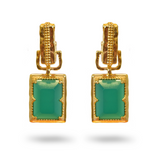 Mountain & Moon Alexandra Earrings - Green Onyx