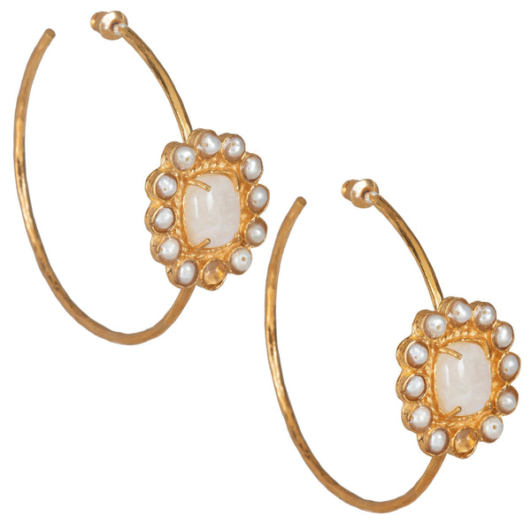 Christie Nicolaides Claudia Hoops - Moonstone