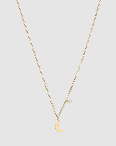 Luna Rae Solid Gold Luna Necklace
