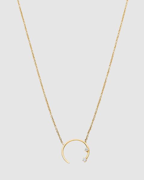 Luna Rae Solid Gold Eclipse Necklace