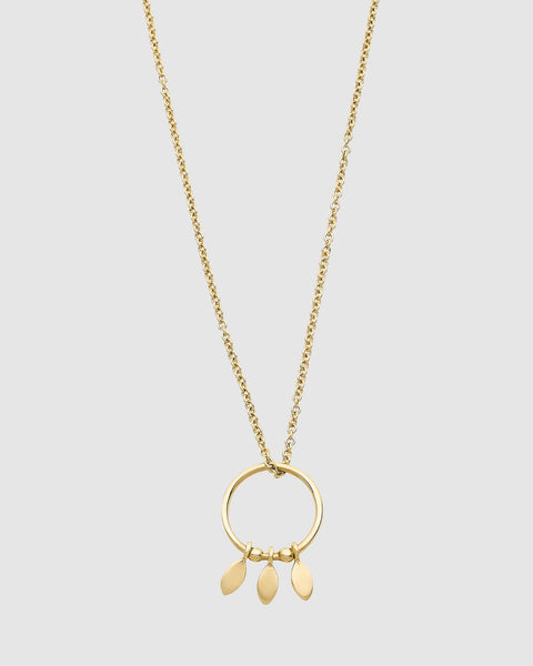 Luna Rae Solid Gold Falling Stars Necklace