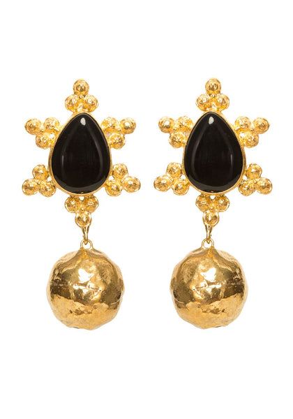 Christie Nicolaides Mireille Earrings - Gold & Black