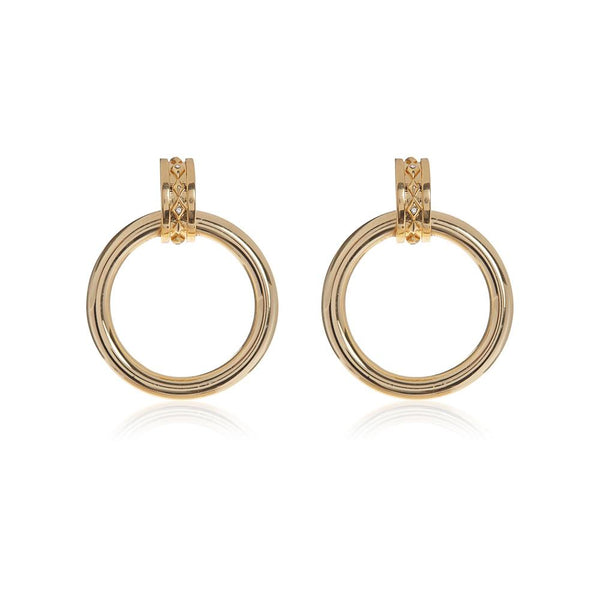 LUV AJ Evil Eye Statement Hoops - Gold