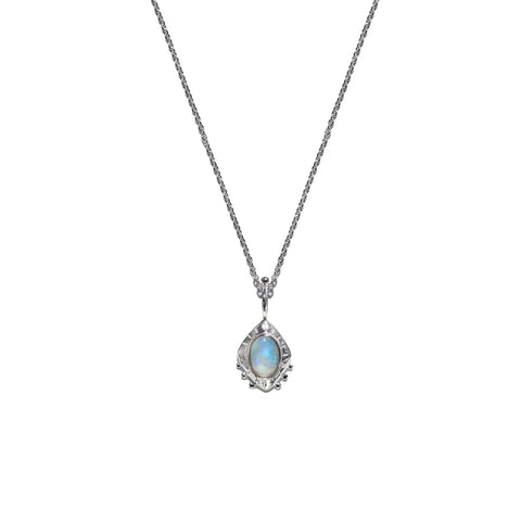 Aletheia & Phos Eye Of The Cosmos Necklace - Silver & Opal
