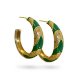 Mountain & Moon Maria Hoops - Emerald