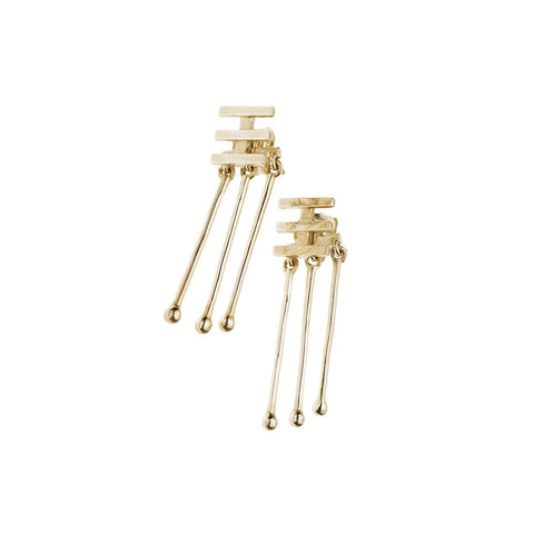 pushmataaha 'mema' earrings - gold