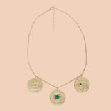 Gypseye Shai Solid Necklace - Calcite Green