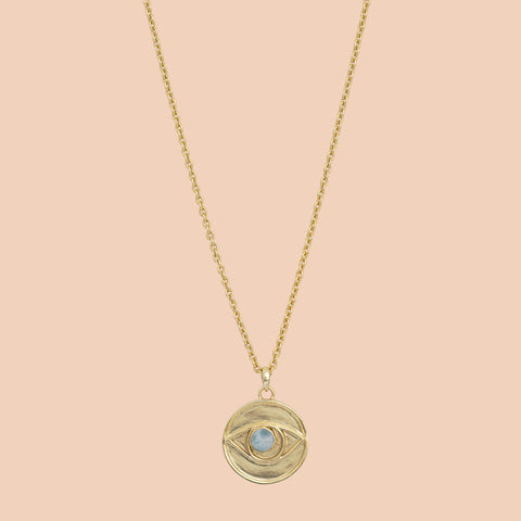 Gypseye Rosetta Eye Necklace - Larimar