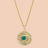 Gypseye Rosetta Eye Necklace - Turquoise