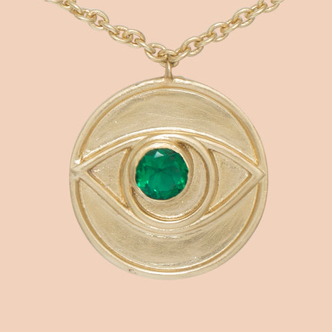 Gypseye Rosetta Eye Necklace - Green Calcite